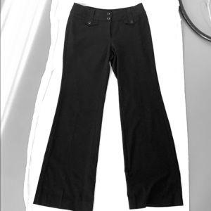 Mid-Rise Black Slacks with Pockets